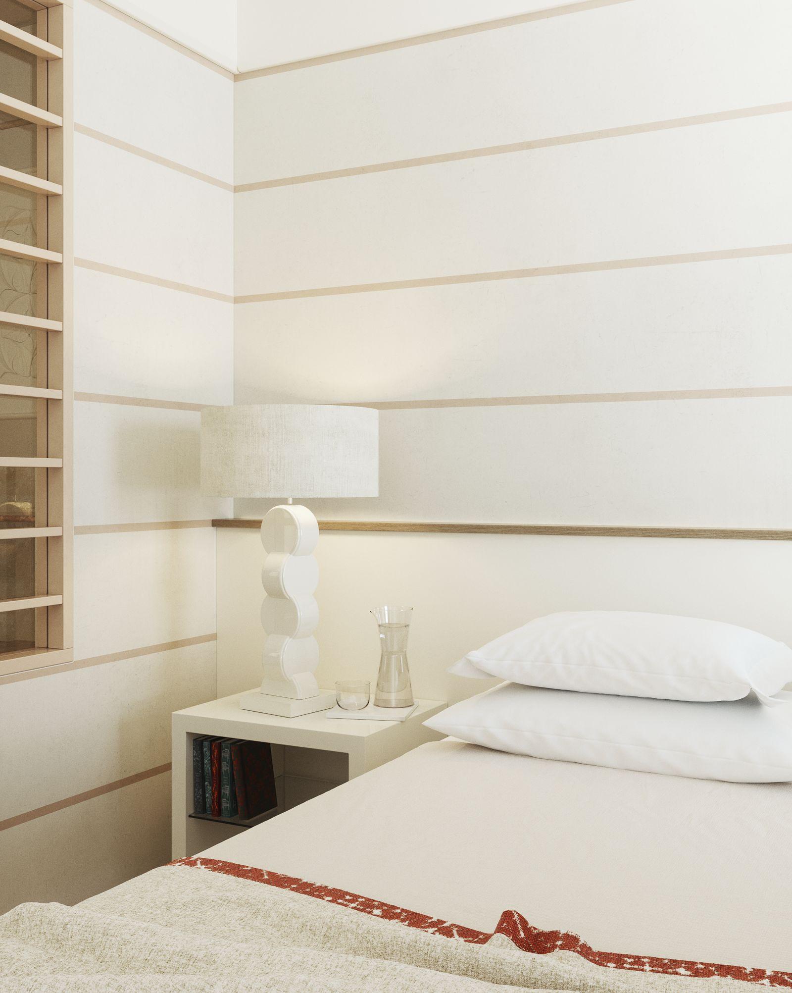 Dettaglio del letto della Prestige Junior Suite di Lefay Resort & SPA Lago di Garda