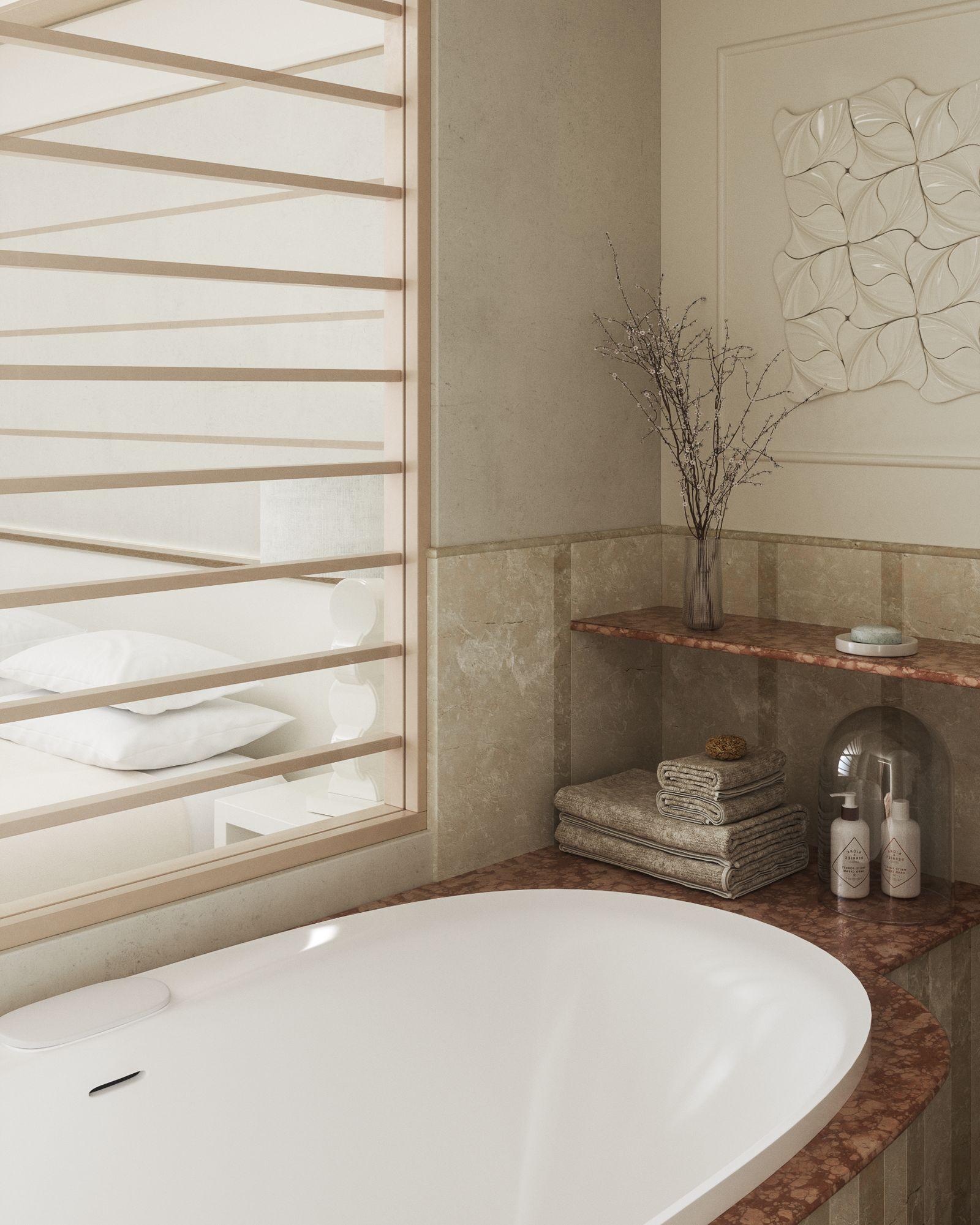 Dettaglio del Bagno della Deluxe Junior Suite di Lefay Resort & SPA Lago di Garda